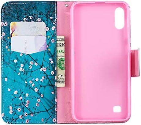 あなたの携帯電話を保護する ホルダー&カードスロット&財布付きサムスンギャラクシーA20&A30のための着色された描画パターン水