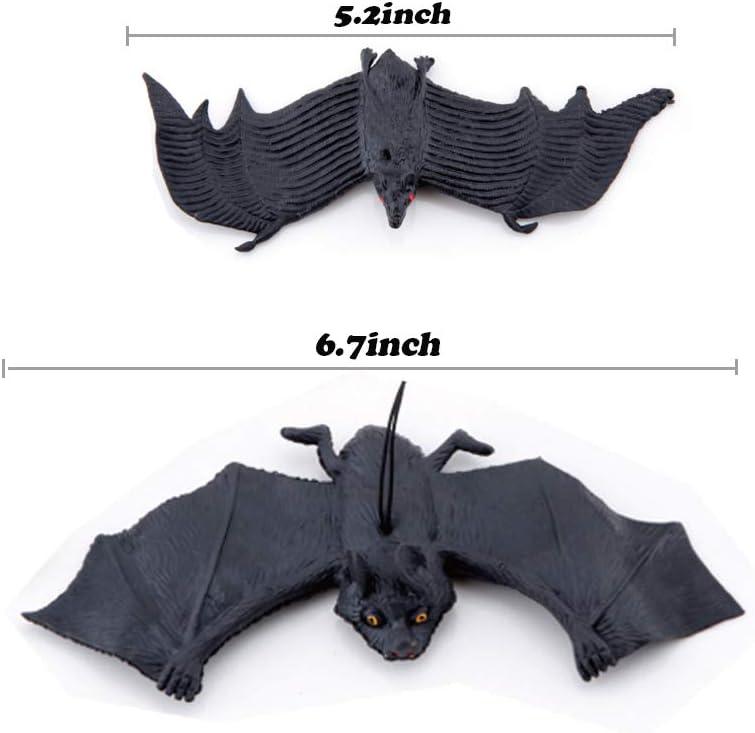 Halloween Bats Rubber Vivid Hanging Vampire Bat for Party,Haunted House Decoration 6pcs