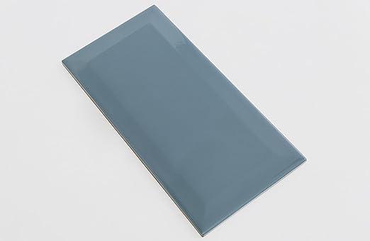 Diese Wandfliese Metro blau-grau im Format 10x20cm zaubern in jeden Raum ein modernes und exklusives Ambiente zum Wohlf/ühlen 1 Muster