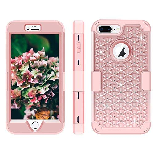 iPhone 7 Plus Case, MCUK 3 in 1 Hybrid Best Impact Defender Cover Silicone Rubber Skin Hard Combo Bumper with Scratch-Resistant Case for Apple iPhone 7 Plus (2016) (Rose Gold) by MCUK (Image #6)