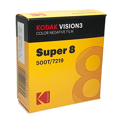 KODAK VISION3 500T/7219 Color Negative Film, SP464 Super 8 Cartridge, 50