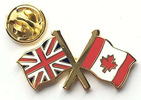 Great Britain GB Union Jack And Canada Friendship Flag Pin Badge