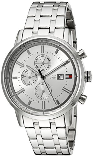 Tommy Hilfiger Men's Quartz Stainless Steel Casual Watch, Color:Silver-Toned (Model: 1791247)