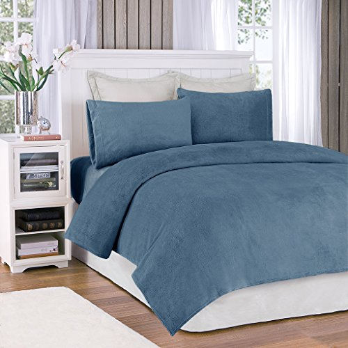 Premier Comfort BL20-0453 Soloft Sheet Set, Twin, Sapphire