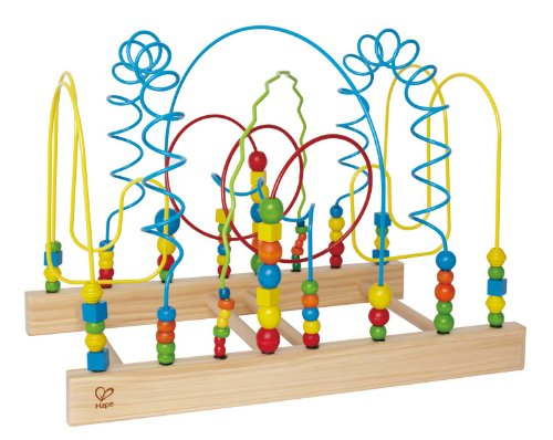Hape Tunnel Mountain Wooden Toddler Bead Maze - Tunnel Mountain Maze