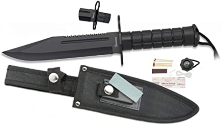 Tiendas LGP Albainox - 32520 - Cuchillo Albainox Supervivencia. H:18,5 cm - Herramienta para Caza, Pesca, Camping, Outdoor, Supervivencia y Bushcraft