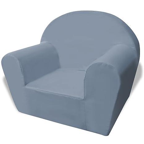 e351eb03714 Silla para niños gris y tela de alta calidad + espuma sintética 18 kg m³