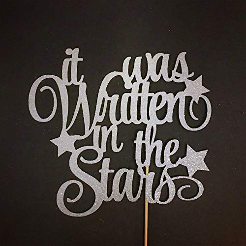 It was Written in the Stars Cake Topper, Wedding Cake Topper, Fairy Tale Cake Topper, Bridal Shower, Little Star Cake Topper, Princess Party
