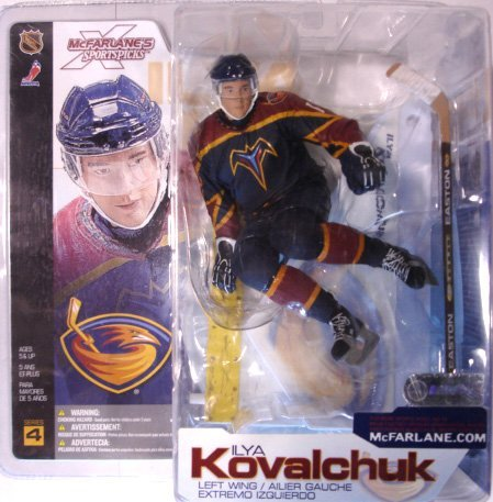 McFarlane Toys NHL Sports Picks Series 4 Ilya Kovalchuk (Atlanta Thrashers) Blue Jersey Action Figure