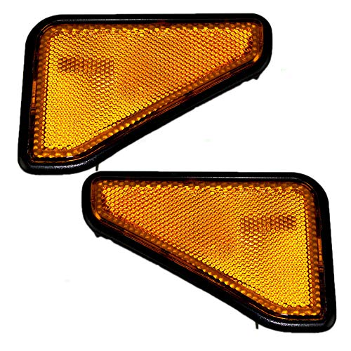 Driver and Passenger Park Signal Side Marker Lights Lamps Lenses Replacement for Honda SUV 33851-SCV-A11ZB 33801-SCV-A11ZB (Honda Element Side Marker)