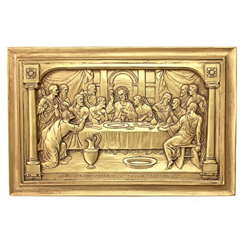 Design Toscano Jesus and The Apostles' Last Supper Wall Sculpture ()