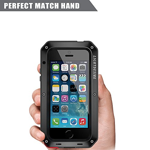 big sale c4b65 e26a7 iPhone 6S Case LIGHTDESIRE Aluminum Alloy Protective Metal Extreme Water  Resistant Shockproof Military Bumper Heavy Duty Cover Shell for iPhone 6/6s  - ...