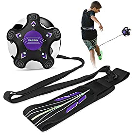 KABIBIN Soccer Solo Practice Training Aid for Kicking Practice – Fits Soccer Ball Size 3, 4, and 5