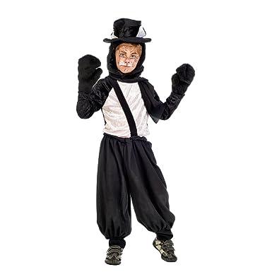 Elbenwald Schwarzer Kater Tier Kostüm Kinder Komplett Kostüm