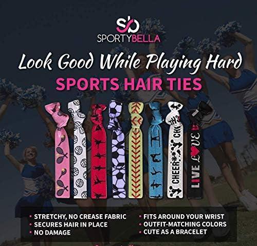 No Crease Skate Hair Elastics Set for Girls Figure Skating Hair Accessories Ice Skating Hair Ties