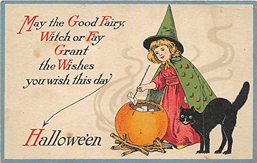 Artist Ellen Clapsaddle, Halloween Series 27 Halloween Postcard Old Vintage Post Card -