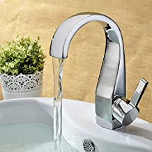 LightInTheBox Elegant Brass Bathroom Sink Faucet - Chrome Finish