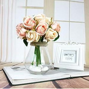 12Pcs Artificial Rose Bouquet Decorative Silk Flowers Bride Bouquets for Wedding Home Party Decoration Wedding Supplies 2