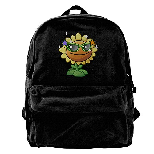 Unisex Sunflower Sunglasses Plants Zombies Casual Canvas Fashion Backpack School Travel Shoulder Bag For Adult - Bean Sunglasses Chili
