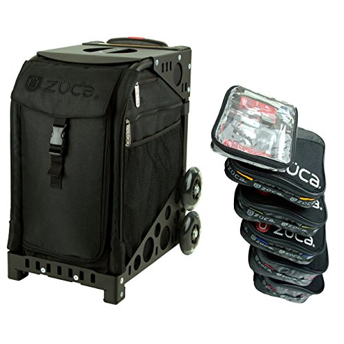 - Zuca Stealth Sport Insert Bag with Black Non-Flashing Wheels Frame & Pro Packing Pouch Set