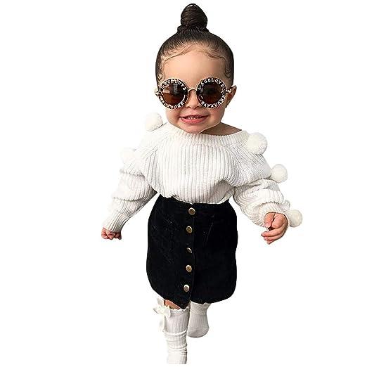 FBGood Ropa de bebé niña – Camiseta de Manga Larga para niños + ...