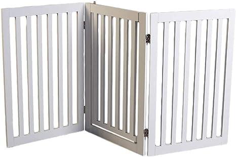 Lords & Labradors - Puerta de madera blanca para perro con puerta de paseo: Amazon.es: Productos para mascotas