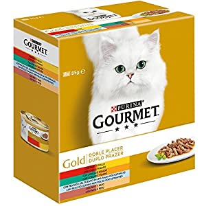 Purina Gourmet Gold Doble Placer comida para gatos Surtido 12 x [8 x 85 g]