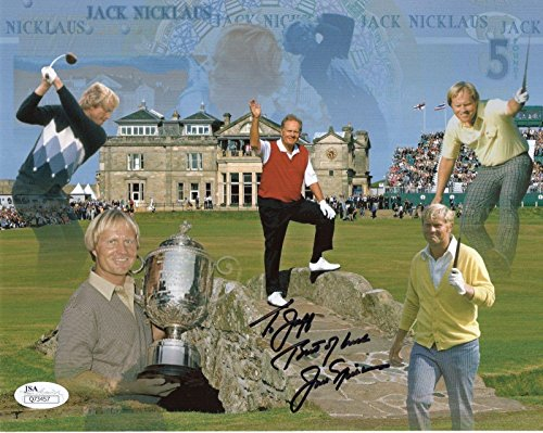 Autographed Jack Nicklaus Picture - 8x10 COLOR AWESOME GOLFER TO JEFF - JSA Certified - Autographed Golf Photos (Photo Autograph Golf 8x10 Certified)