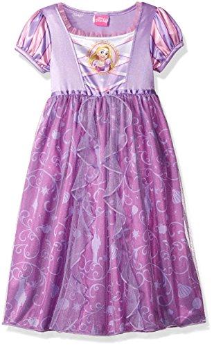 Princess Nightie (Disney Little Girls' Fantasy Nightgowns, Rapunzel Lively Lavender, 6)