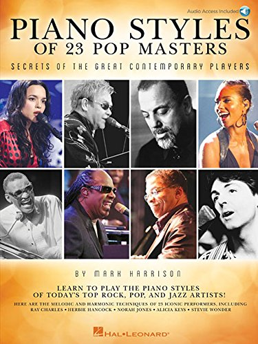 Piano Styles of 23 Pop Masters: Secrets of the Great Contemporary Players (Great Piano Players)