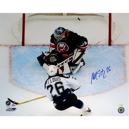 (Steiner Sports NHL Tampa Bay lightning Martin St. Louis Playoff Goal vs DiPietro 16 x 20-inch Photo)