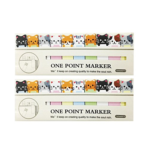 Wrapables Bookmark Sticky Notes Kitties