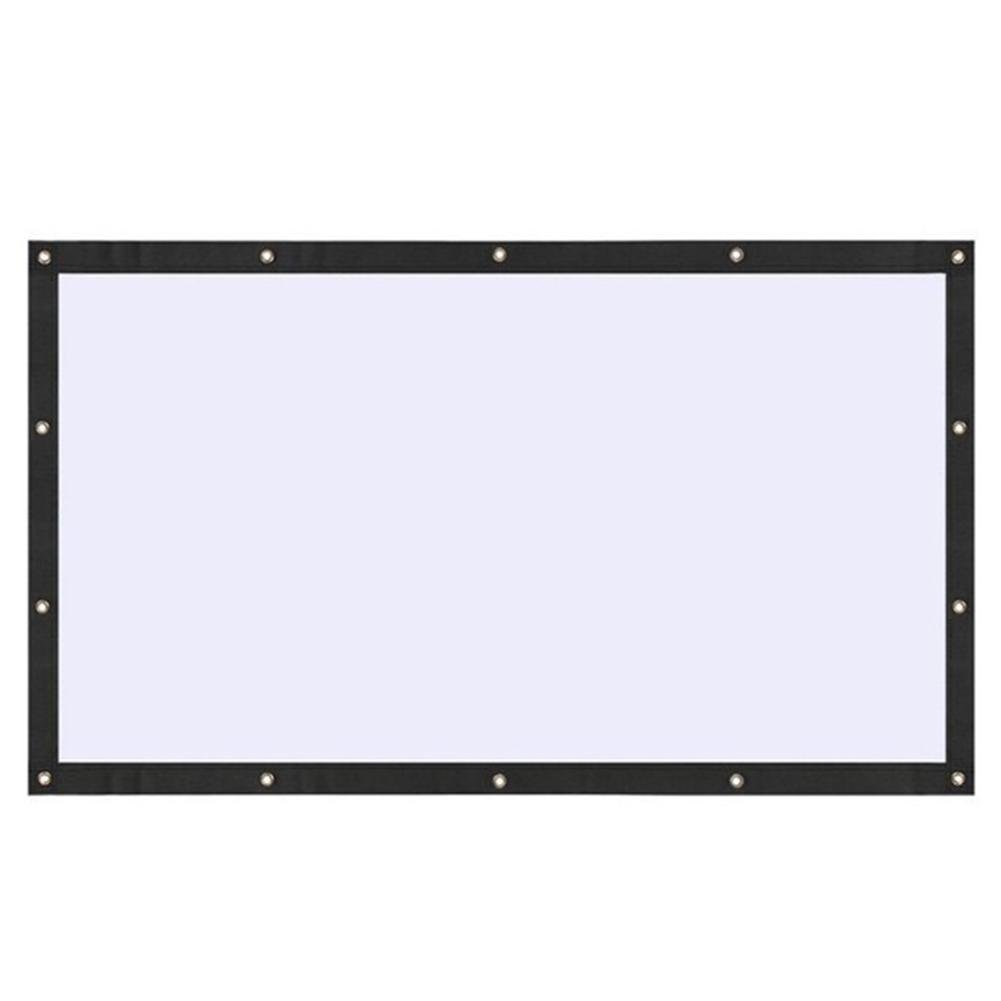 Life up Foldable Projector Screen 16:9 Front and Rear Projection No Wrinkles for Home Outdoor Movie Theater Xbox Games - 130-inch