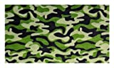 Funky Camo Green Multi - 2'x3' Custom Stainmaster Premium Nylon Carpet Area Rug ~ Bound Finished Edges