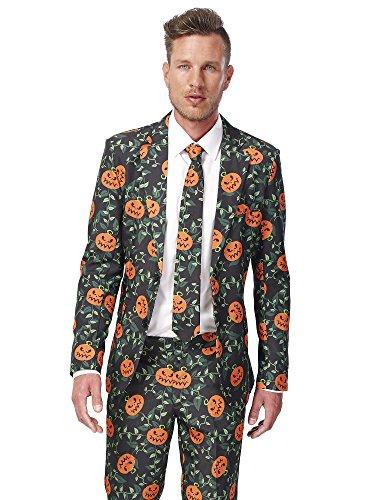 Suitmeister Halloween Costumes for Men – Pumpkin Leaves - Include Jacket Pants & Tie -