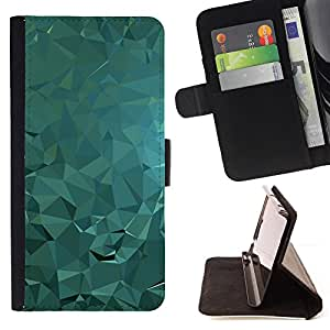 DEVIL CASE - FOR Apple Iphone 6 - Polygon Abstract Fluid Water Light - Style PU Leather Case Wallet Flip Stand Flap Closure Cover