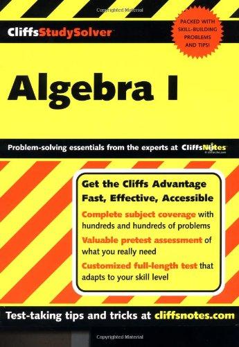 CliffsStudySolver Algebra I (Pt. I)