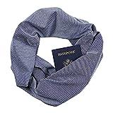 WensLTD Gift Clearance! Women Loop Scarf Infinity Wrap Hidden Zipper Pocket Warm Travel Couple Scarves (A)