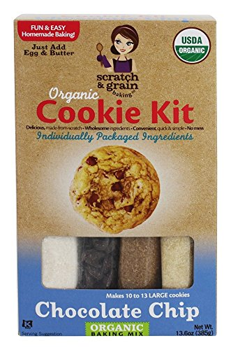 SCRATCH AND GRAIN Chocolate Chip cookie Kit, 13.6 OZ