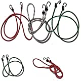 Superior High Strength Elastic Rope/Bungee Cord for Hanging Clothes, Tying Behind Bikes (4 ft, Assorted Colour)
