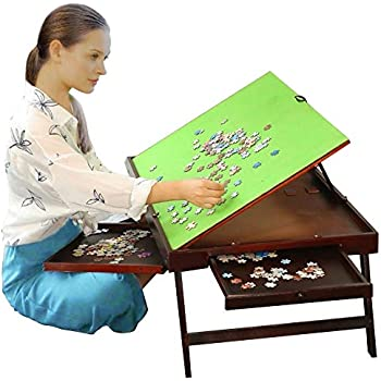 Amazon Com Wooden Jigsaw Puzzle Table For Adults Amp Kids