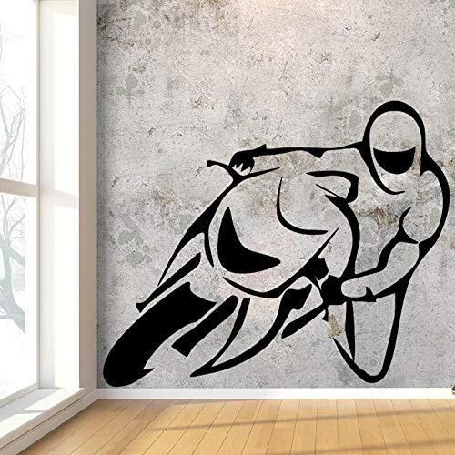 wukongsun Diseño Creativo de la Carrera de Motos Etiqueta de la ...