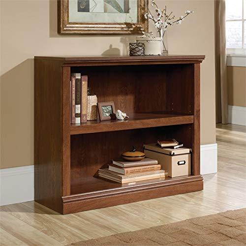 Sauder 2-Shelf Bookcase, Oiled Oak finish