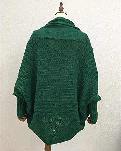 Manches Chauve Vert Tops Tricote Souris Blouson Manteau Femmes Gilet Veste Cardigan Outwear 71q7dO