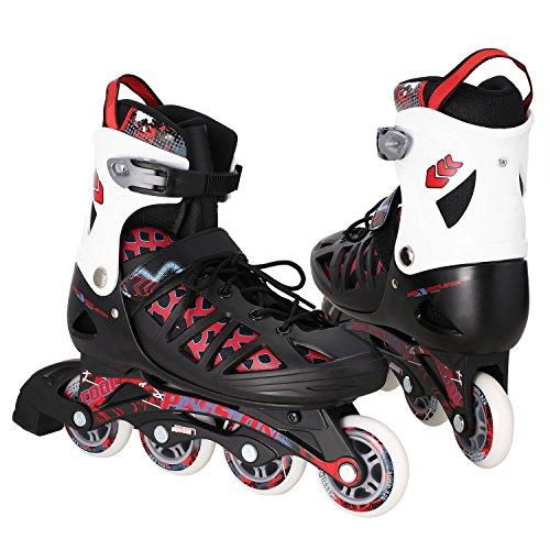 Inline Skates for Kids- Adjustable Inline Skate Girls/Boys Rollerblades for Women Size 12-8 Outdoor Skating Birthday/Christams ()