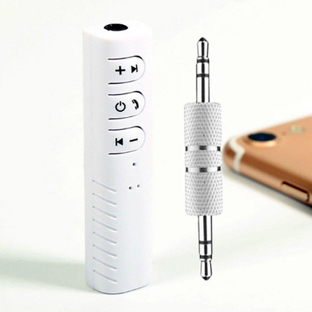 Alivier - Adaptador portá til Bluetooth 4.1 para Coche, Bluetooth, Adaptador AUX, transmisores de Bluetooth, receptores de componentes de Audio BK 1