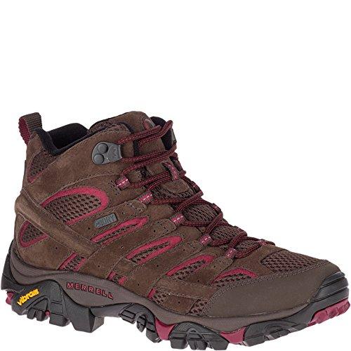 Merrell Women's Moab 2 MID Waterproof Sneaker, Espresso, 7 M US