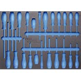 BGS 3/3 Werkstattwageneinlage für Schraubendreher, leer, 1 Stück, 4014-5