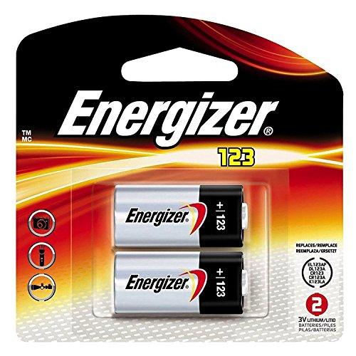 Energizer Lithium CR123 CR-123 Photo Lithium Battery 2Pack (Open -