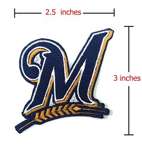 - Milwaukee-Brewers-Baseball Sport-Logo-Embroidery-Iron-Sewing-Patch-on-Fabric